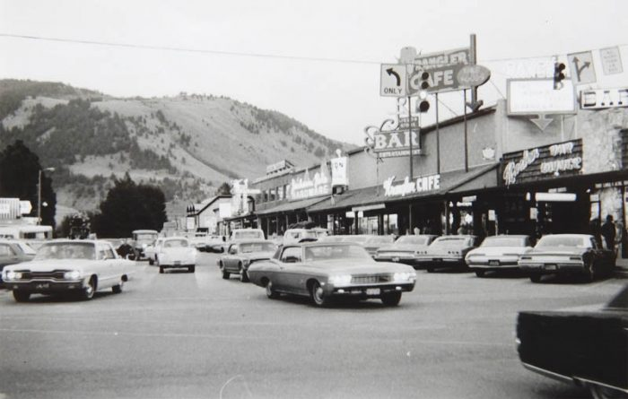 Downtown Jackson, Wyoming. 1970. Photo by Jim Stiles