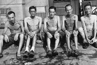 Allied POW's rescued from a Japanese Camp in the Philippines. c/o US Army Signal Corps