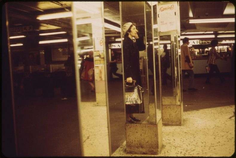 Herald Square Subway Station. 1973. Photo by Erik Calonius. From the National Archives