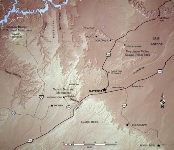 map of Kayenta area