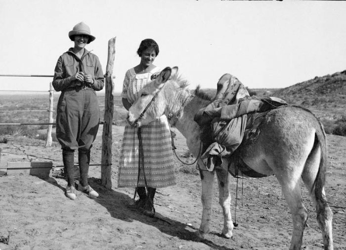 Mildred Kaye Smith on the left with Lillian Wilhelm