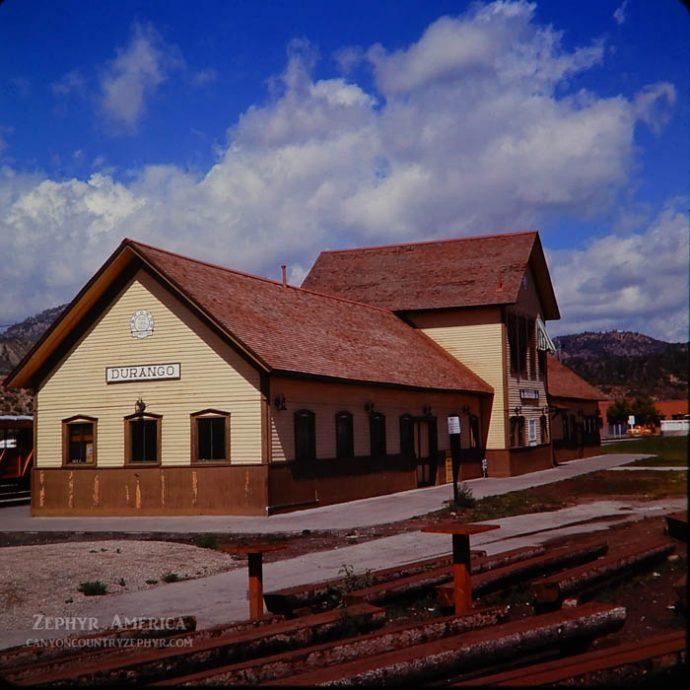 Durango's Rio Grande Depot. 1966. Photo by Herb Ringer.