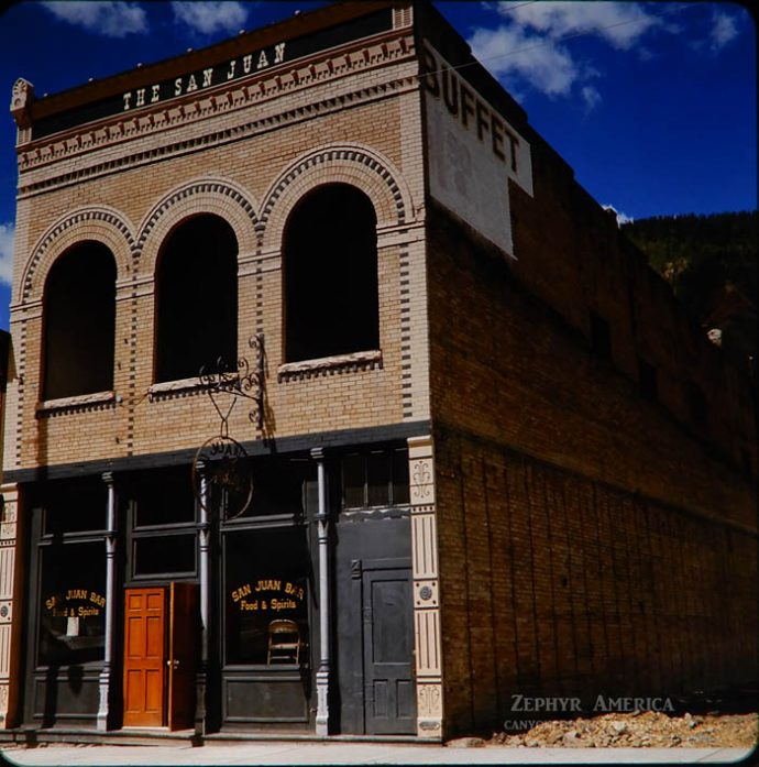 The San Juan Bar in downtown Silverton, CO. 1966. Photo by Herb Ringer