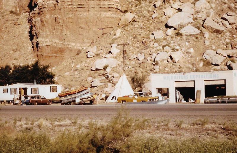 Wild Rivers boat camp, Bluff, UT 1983 Credit: Art Rohn