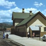 Durango Colorado Rail Depot. 1948. Photo by Herb Ringer