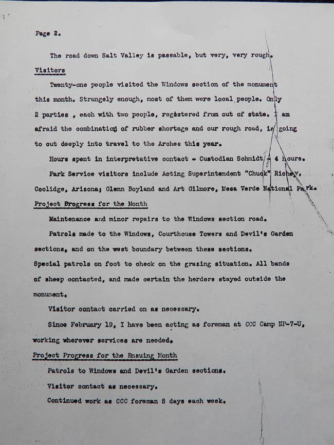 Hank Schmidt's Monthly Report, January 1942. page 2