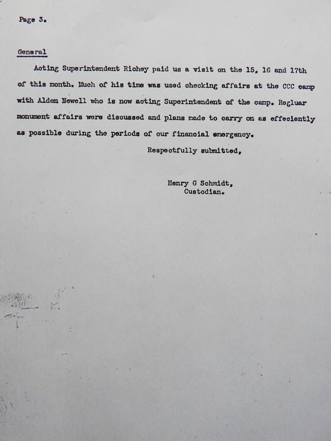 Hank Schmidt's Monthly Report, January 1942. page 3