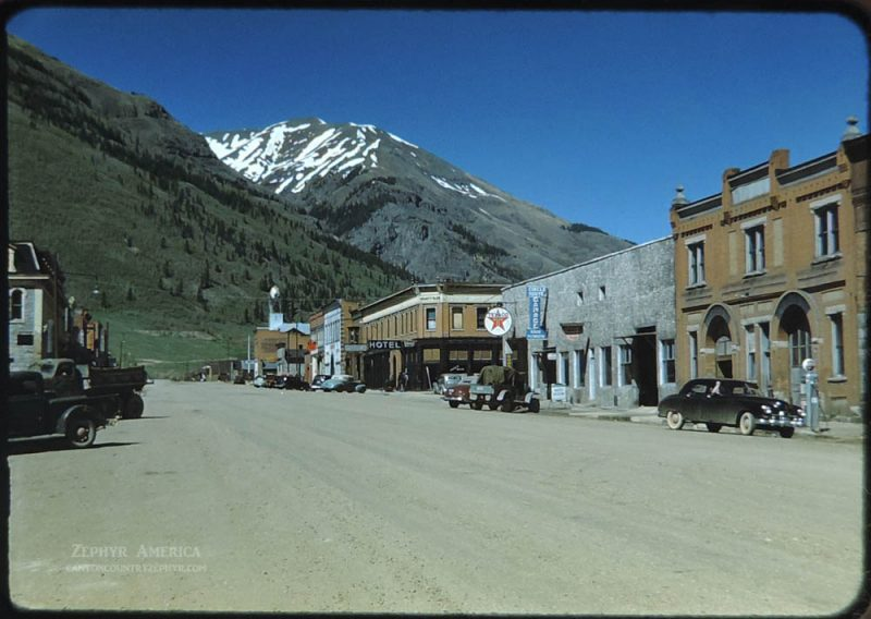 Downtown Silverton, CO. 1948. Photo by Herb Ringer.