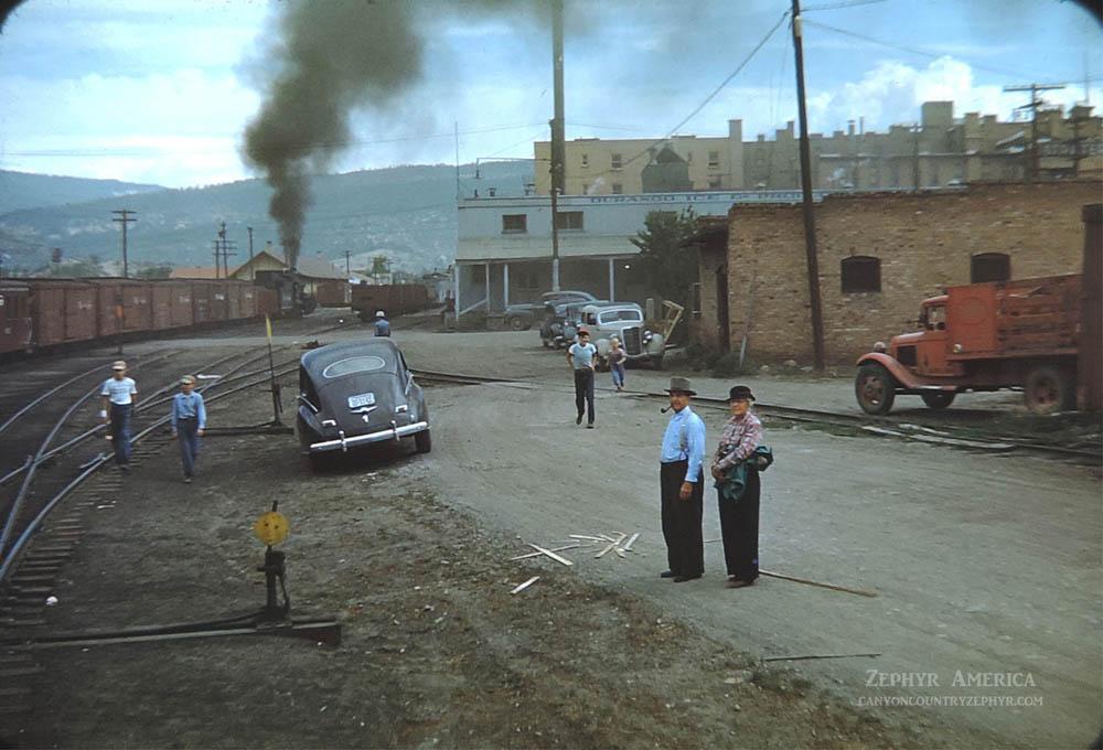The Silverton Train leaving Durango. 1948. Photo by Herb Ringer