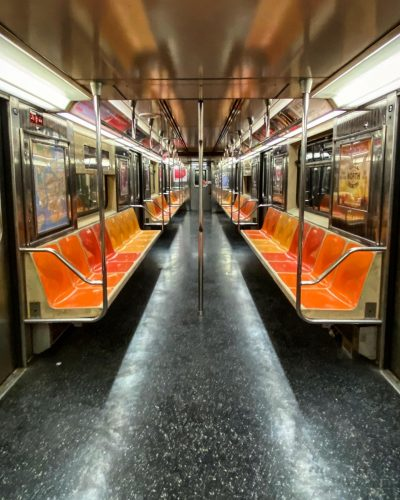 The New York subway in the Covid Era. 2020. Photo by Paul Vlachos.