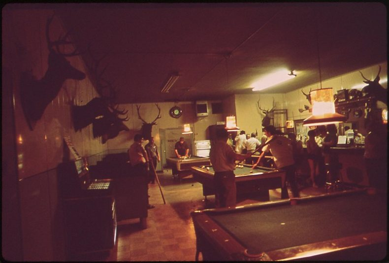 Pool Hall in Louisville, Kentucky. 1972. Photo by William Strode. From the National Archives