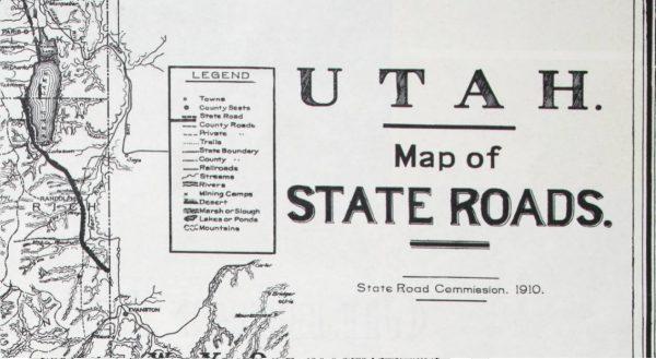 Utah State Road Map. 1910