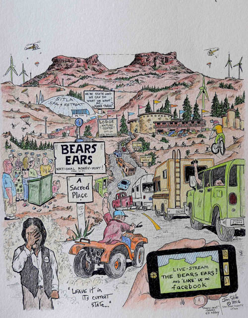 Bears Ears Cartoon by Jim Stiles