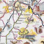 Detail from the 1940 Utah Pictorial Map