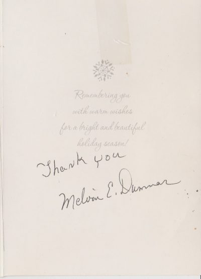 Christmas Card from Melvin Dummar. c/o Barbie Dale