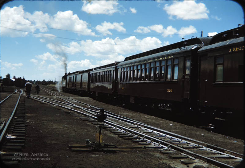 The train waits at Chama, New Mexico. 1948. Photo by Herb Ringer