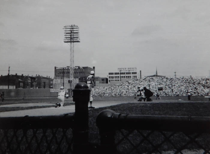The Reds at Crosley Field. Cincinnati. Photo by James Stiles, Sr