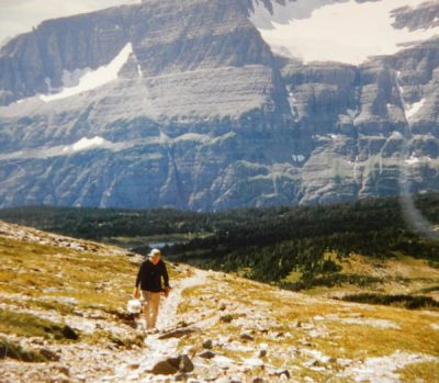 Doc Bell at Glacier National Park. Photo by George Bell