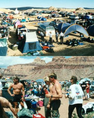 Scenes from Moab's Eco-Challenge race. 1995. Photos by Jim Stiles