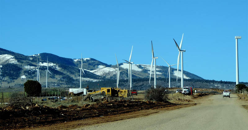 The Latigo Wind Project at Monticello, UT. Photo by Jim Stiles
