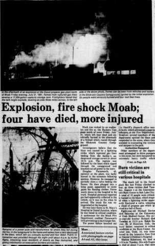 Front page of the August 6th, 1981 Times Independent