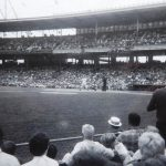 The Reds and the Giants. Crosley Field. Cincinnatti. Photo by James Stiles, Sr