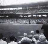 The Reds and the Giants. Crosley Field. Cincinnatti. Photo by James Stiles, Sr