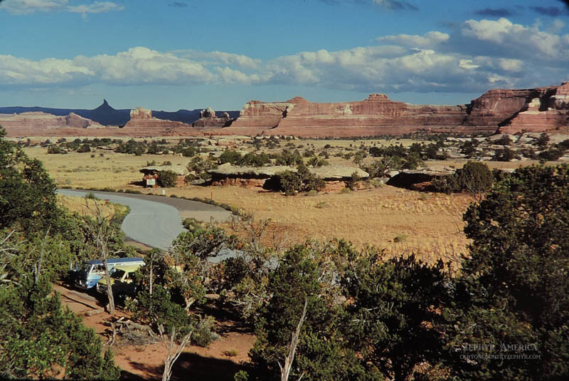 Overlooking the Campground at Squaw Flat. September 1978. Photo by Edna Fridley