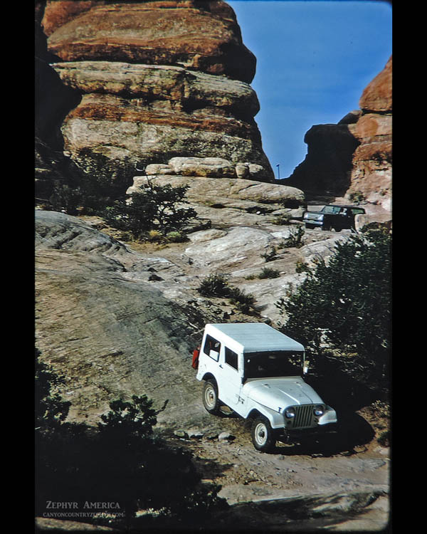 The Silver Stairs. Needles District. June 1972. Photo by Edna Fridley