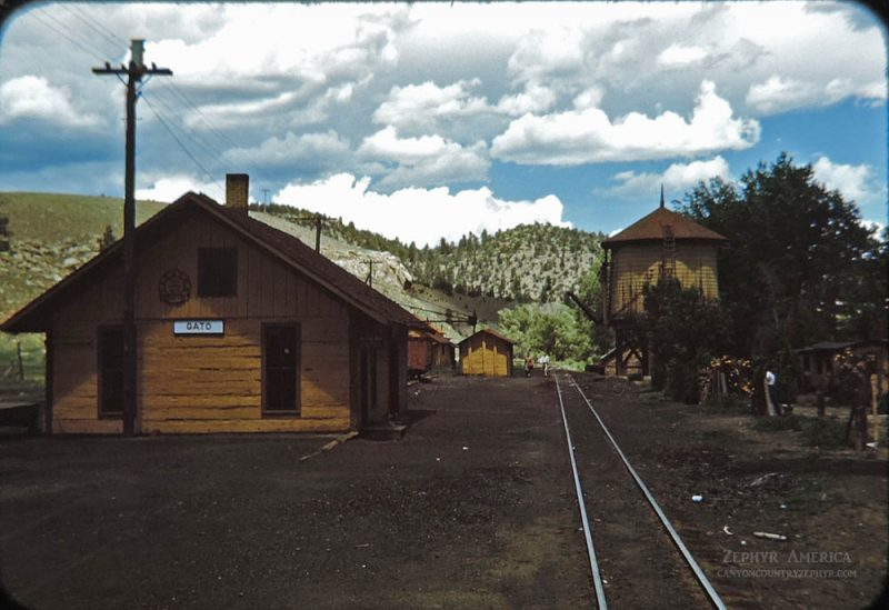 The Station at Gato/Pagosa Junction, Colorado. 1948. Photo by Herb Ringer