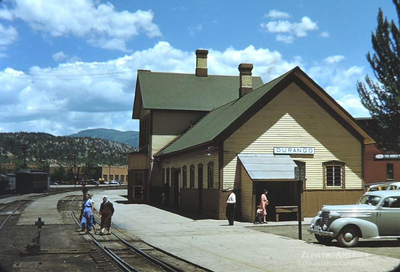 The Durango Railroad Depot. 1948. Photo by Herb Ringer