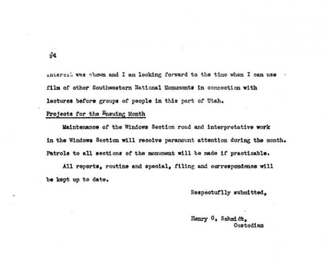 Arches Monthly Report July 1941 page 4