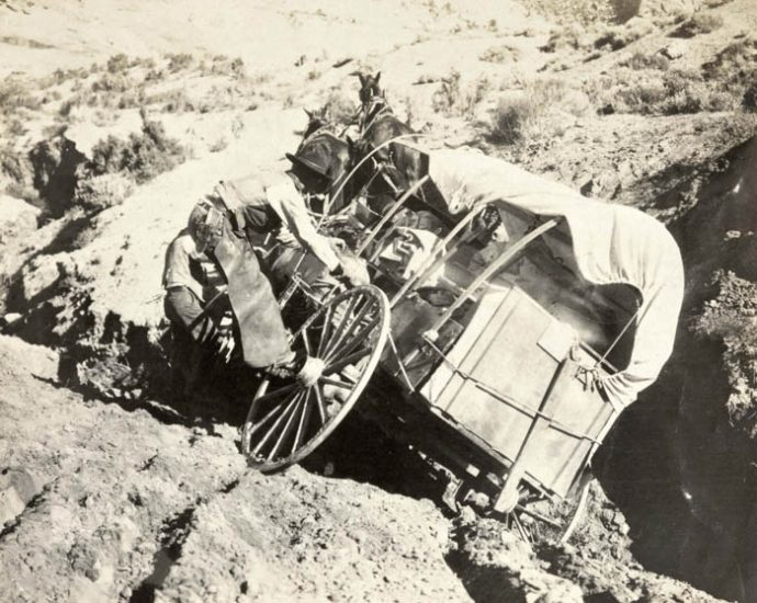 Getting the Townsends' wagon to the Wetherills' remote outpost at Oljato was a real challenge