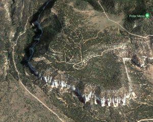 Google Aerial of Polar Mesa