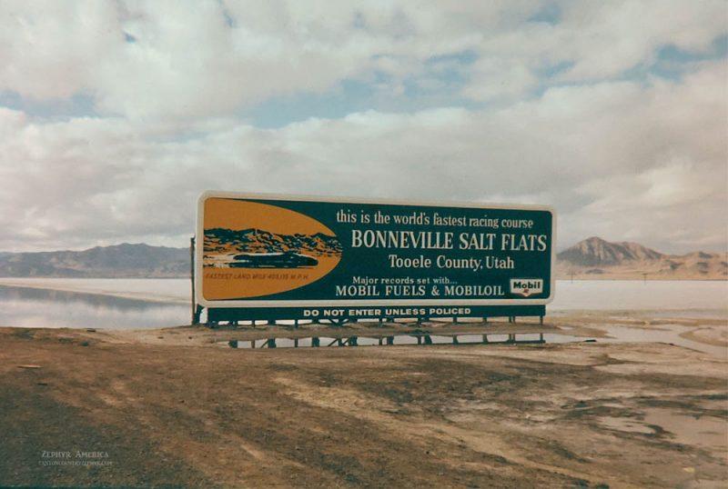 Bonneville Salt Flats. UTAH. 1961. Photo by Edna Fridley