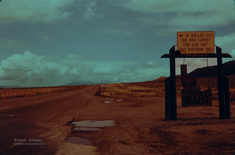 Idaho State Line. MAY 1963. Photo by Edna Fridley
