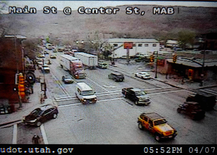 UDOT image of downtown Moab