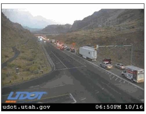 UDOT Image of the traffic outside Moab